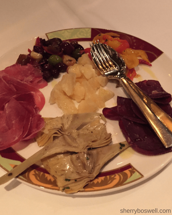 Disney Cruise Dining: Two Biggest Reasons to Try Palo | Palo dinner antipasti