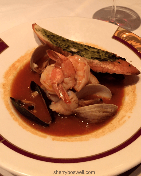 Disney Cruise Dining: Two Biggest Reasons to Try Palo | Palo dinner cioppino