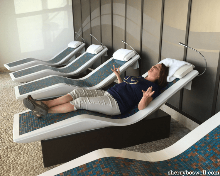 Disney Cruise Spa | Part of the Senses Spa, the Rain Forest is a must do on Disney Cruise Line. Zen is easier to have on a stone lounger