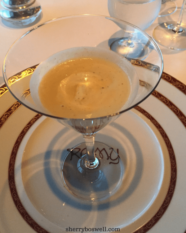 dine at Remy on your Disney cruise foie gras amuse bouche