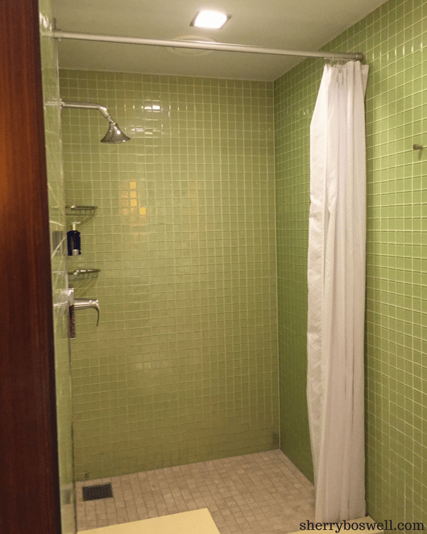 Disney Cruise Spa | Part of the Senses Spa, the Rain Forest is a must do on Disney Cruise Line. Showers in the main area of the spa are excellent spot to get ready for the cruise activities.