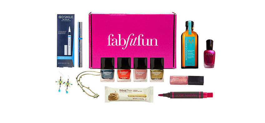 Best Subscription Boxes for the Holidays includes FabFitFun for those who love makeup and beauty products.
