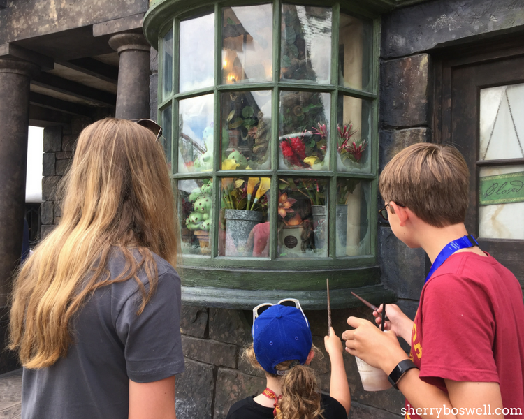 Universal Orlando Wizarding World of Harry Potter tips include the interactive spells in both Diagon Alley and Hogsmeade