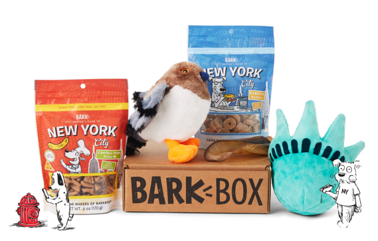 Best Subscription Boxes for the Holidays have to include our pets-and what better one than BarkBox! My dog Millie can't get enough of this box of treats and toys!