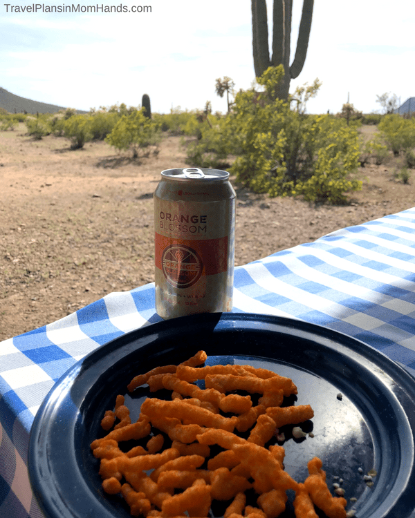 Arizona dude ranch fun: adult rides at White Stallion Ranch include the ever-popular Beer and Cheetos ride