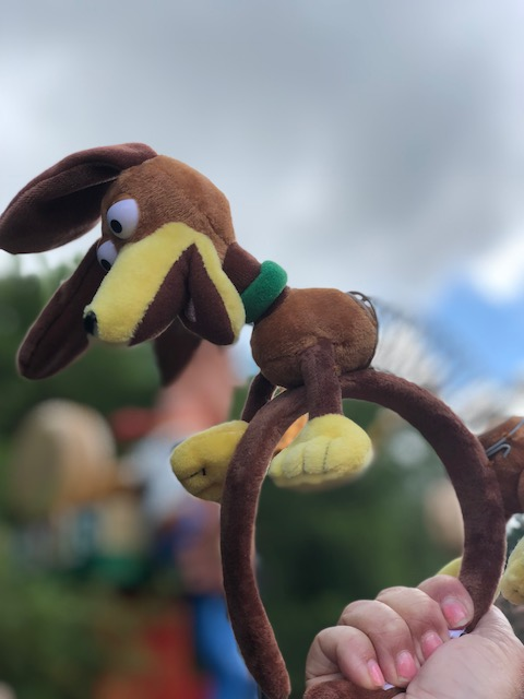 Toy Story Land tip: grab these slinky dog headbands before they get gone!