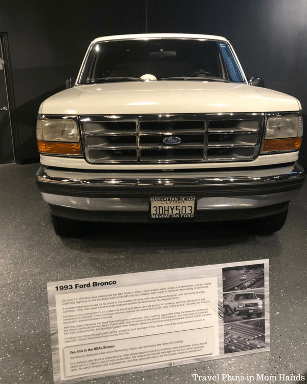Where to Stay, Eat, and Play in Pigeon Forge, TN: OJ Simpson's Bronco on display in the Alcatraz East Crime Museum