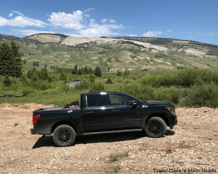 Getting around the national parks near Jackson Hole, Wyoming has never been easier with the Nissan Titan Midnight edition.