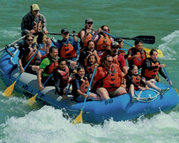 Jackson Hole whitewater rafting with Barker-Ewing is a thrilling, rip-roaring ride. We stayed dry until the rapids!