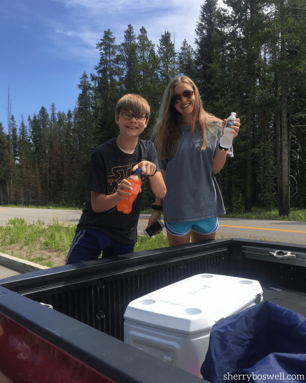 Lots of driving in Yellowstone means stocking up on food, drinks, and gas and even if it means short term use, buy a cooler!