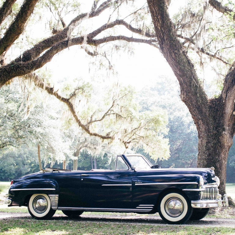 Lowcountry Valet & Shuttle Co. do touring and transportation up in style in this vintage 1950s car.