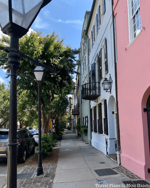 Tops on a list of things to do in Charleston, SC is Rainbow Row, where colorful homes create a rainbow effect.