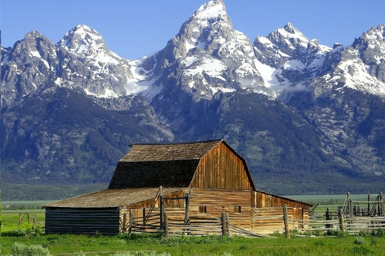 In honor of National Park Week, we're reflecting back on some of our favorites, including Grand Teton and this view of the Moulton Barn.