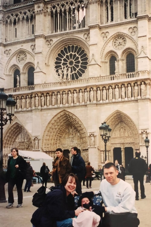 Take the damn trip is great travel advice to have, especially after looking back at our Notre Dame photos from 2001.