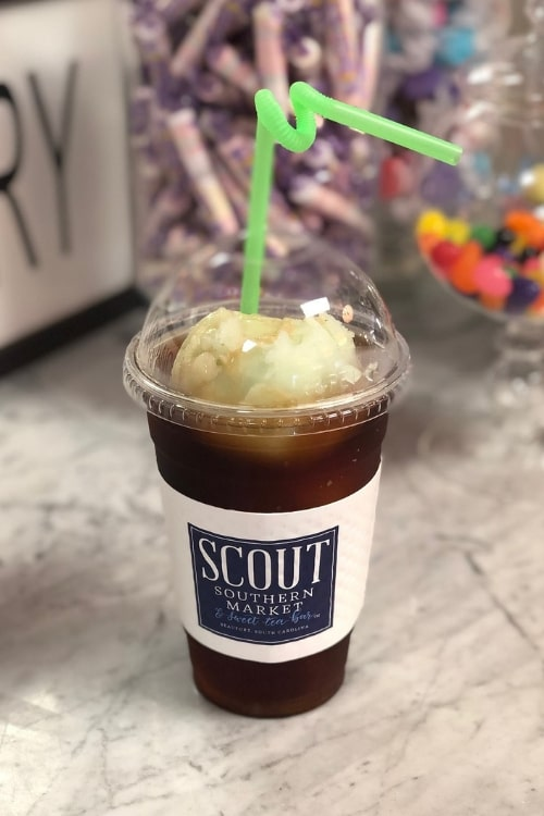 What is a trip to the South without sweet tea.. or in this case, a sweet tea float from Scout Southern Market as we spent 24 hours in blissful Beaufort, SC.