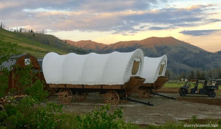 Glamping Makes the Best Family Vacation, and Goosewing Ranch has some unique accommodations in covered wagons.