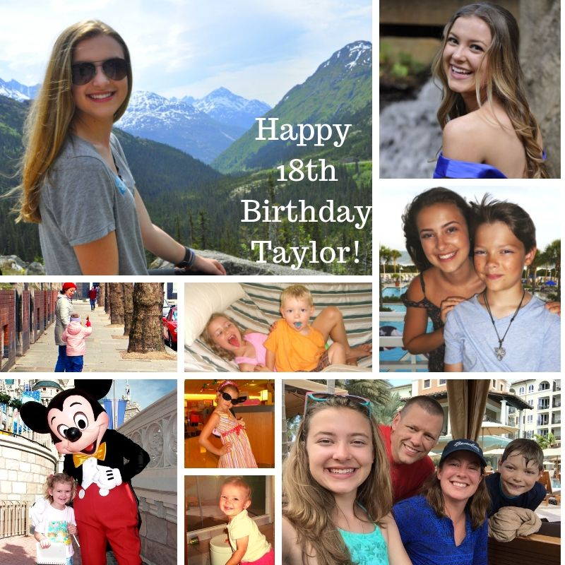 An 18th Birthday collage of my daughter