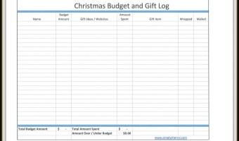 Christmas Budget Gift Log