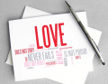 RedLetterPaperCompany Love Is Card