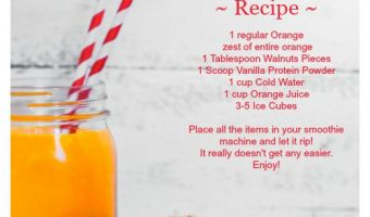 Nutty Creamsicle Smoothie