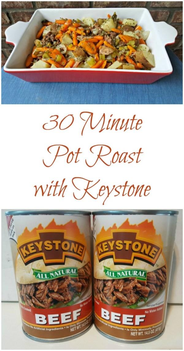30 Minute Pot Roast with Keystone