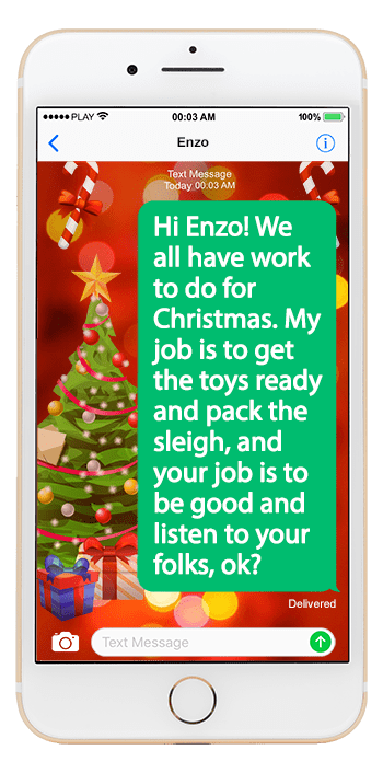 santa writes his texts with kids in mindbut there are a few jokes for the adults too and anyone can sign up for messages or e mail santa no matter what