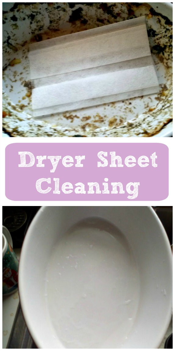 Dryer Sheet Cleans Baked On Food