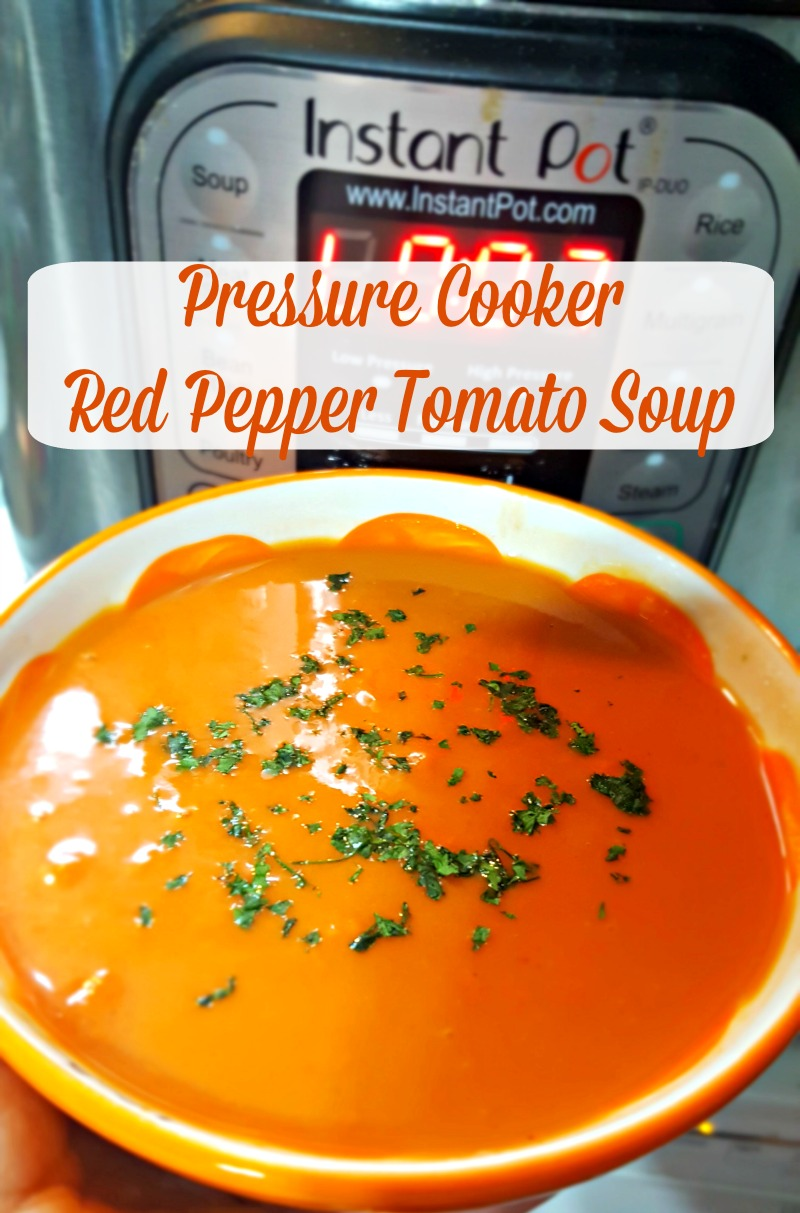 Pressure Cooker Red Pepper Tomato Soup