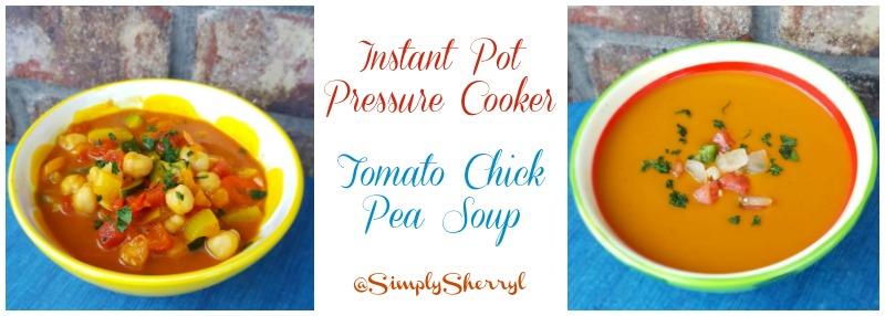 Pressure Cooker Tomato Chick Pea Soup