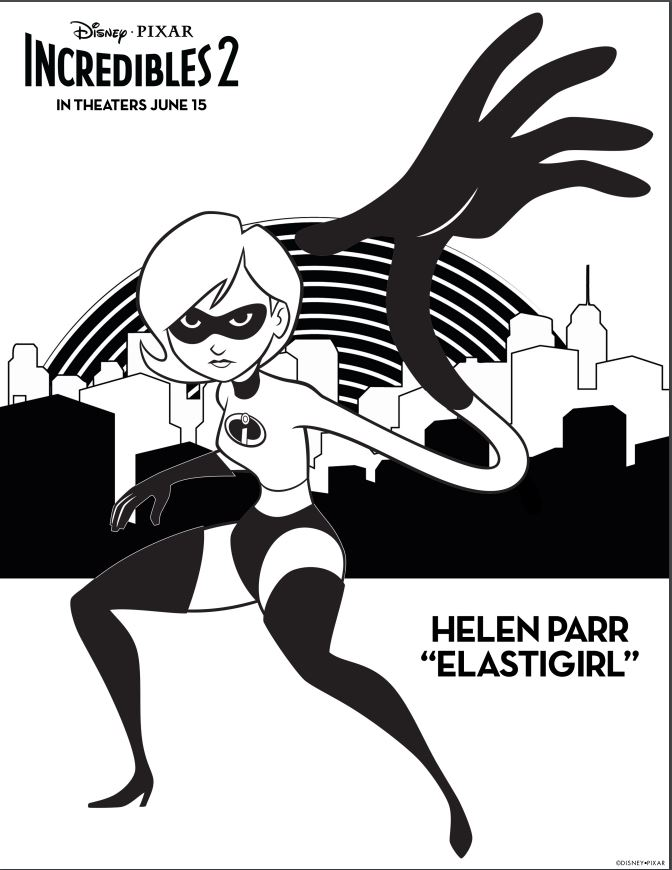 Incredibles 2 Helen Parr Coloring Page