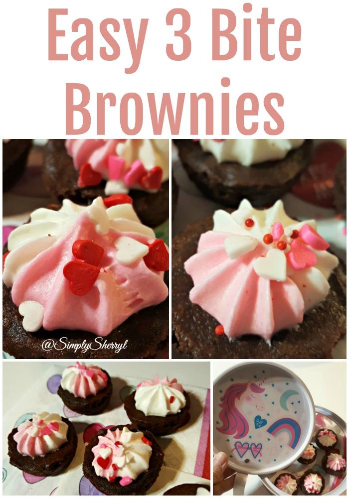 Easy 3 Bite Brownies