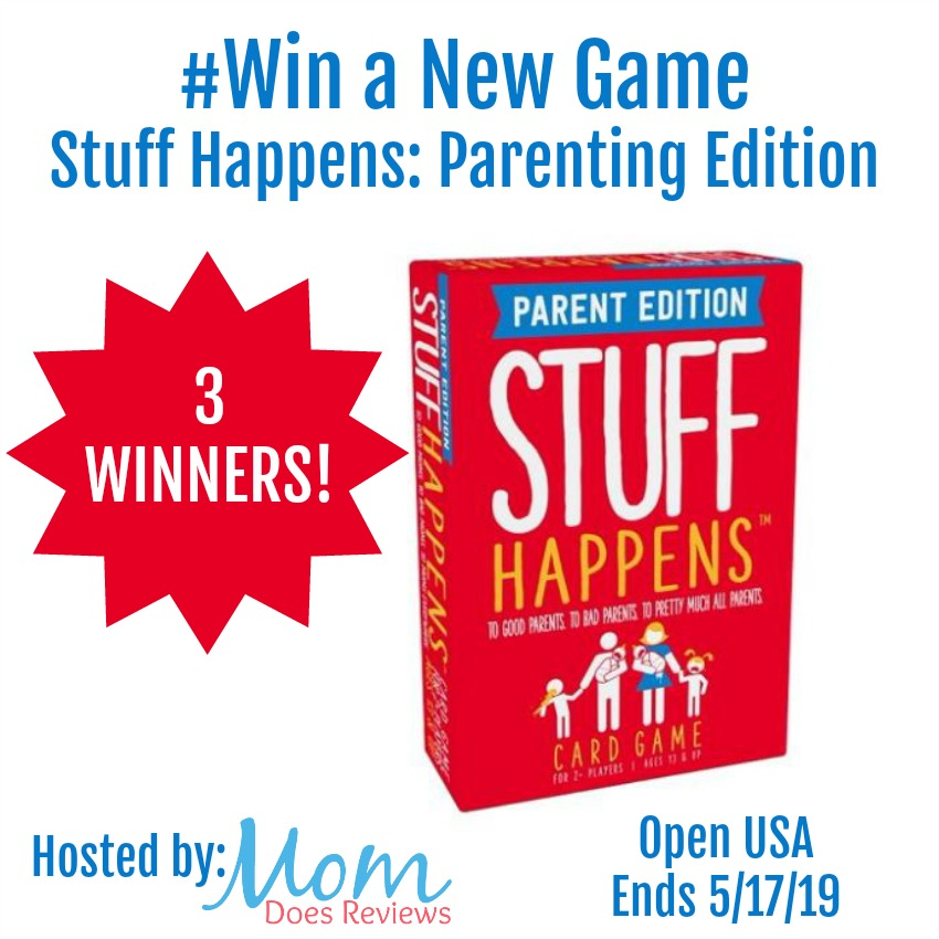Stuff Happens: Parenting Edition Giveaway Open USA, Ends 5/17