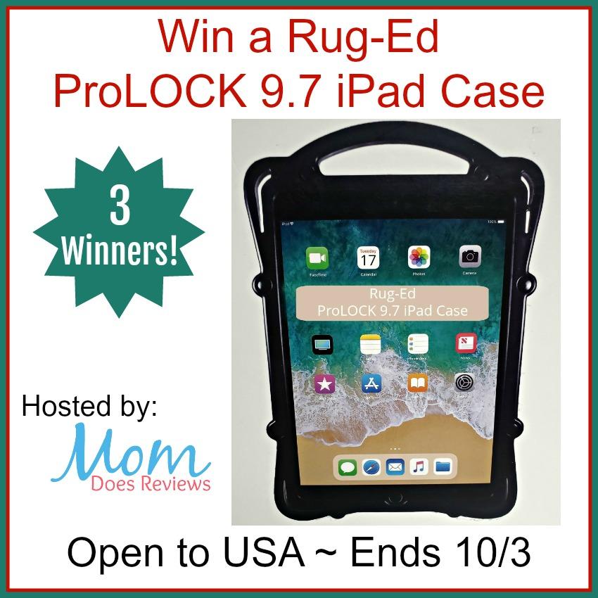 Win a Rug-Ed ProLOCK 9.7 iPad Case – 3 Winnersv