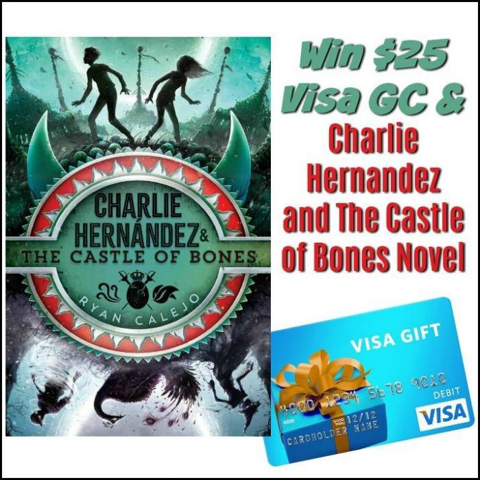 Charlie Hernandez and The Castle of Bones Novel & $25 Visa GC Giveaway