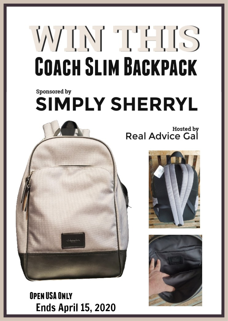 Win This Coach Slim BackPack
