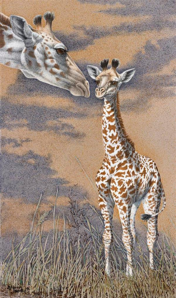 Sherry Steele Artwork - Life Coach | Giraffes