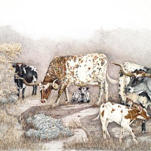 Sherry Steele Artwork - Sagebrush Babes | Longhorns