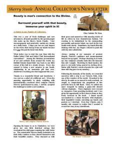 2008 Sherry Steele Newsletter