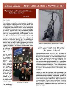 2014 Sherry Steele Newsletter