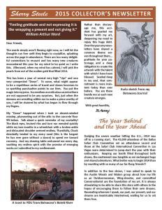2015 Sherry Steele Newsletter