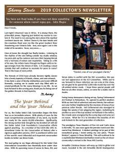 Sherry Steele Collectors Newsletter 2019