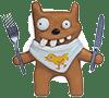 Hungry bear emoticon