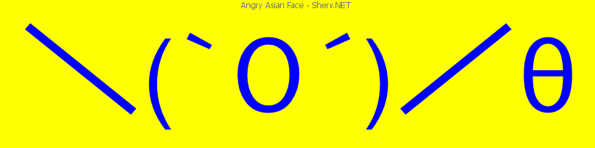 angry asian face text