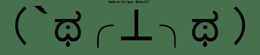 make an evil face