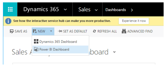 Dynamics 365: Power BI Dashboard