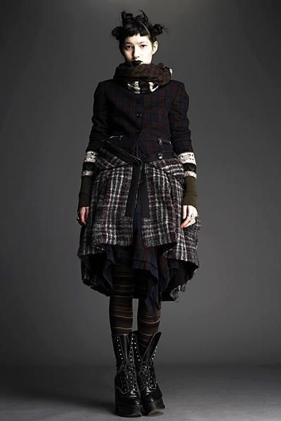 Dark Mori look from Alexander McQueen.