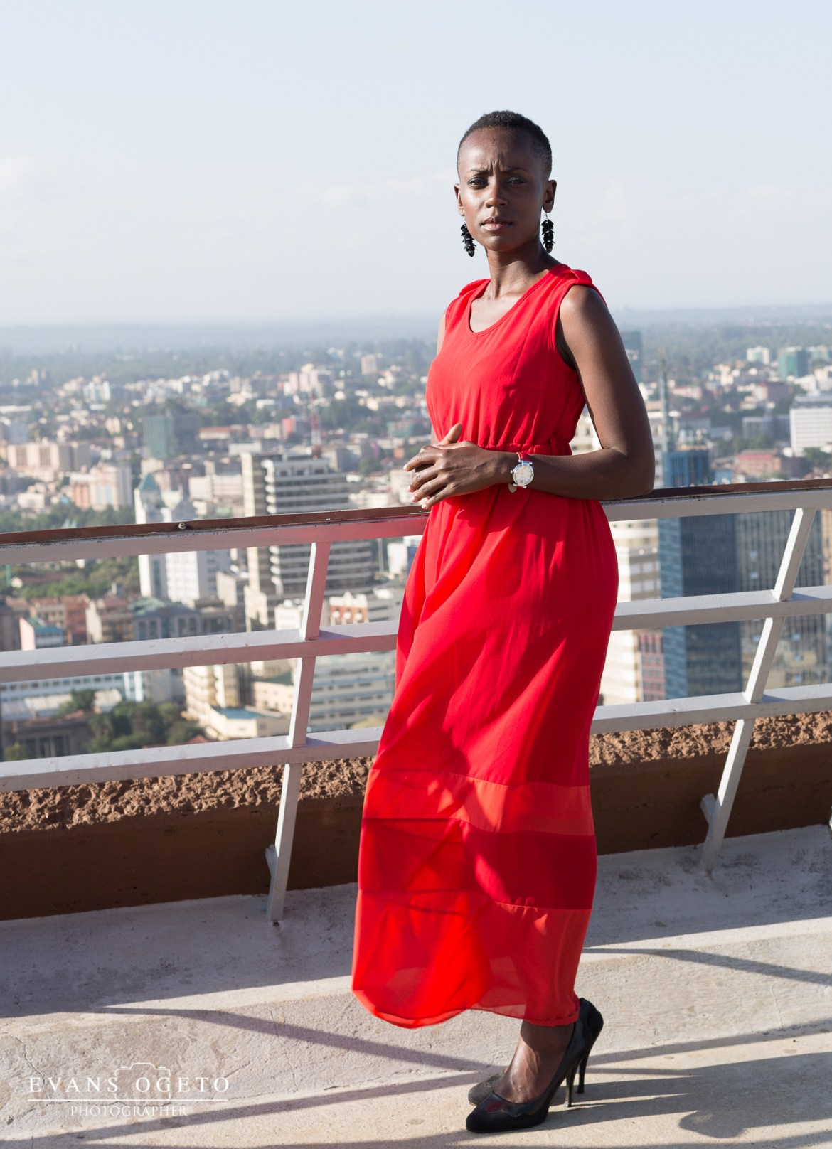 Shes a tomboy-Long Red Dress-1-5
