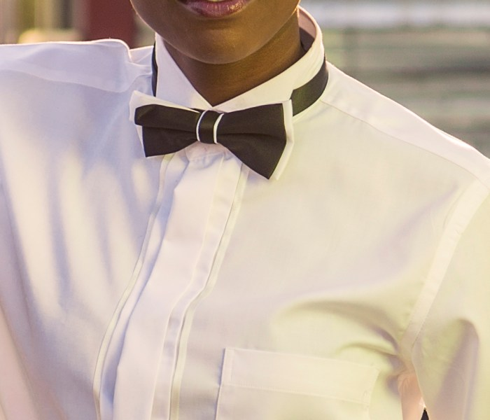 The tuxedo shirt…