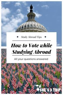 How to vote while studying abroad