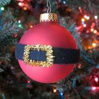 She's Crafty! Make a Santa's Belly Christmas Ornament